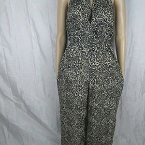 Pants - Womens NANA USA Animal Print Jumpsuit size M